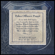 Police Officer's Prayer, Photo Frame  -