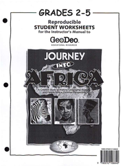 Journey into Africa, Student Worksheets, grades 2 to 5 - Slightly Imperfect  -     By: Ann M. Jansen