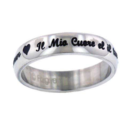 My Heart is Your Forever Ring, Italian, Size 7   -