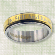 Be Still and Know Spinner Ring, Size 9  -