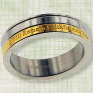 Faithful and True Purity Ring, Size 10  -