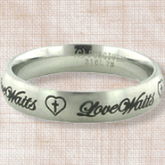 Love Waits Ring, Size 8  -