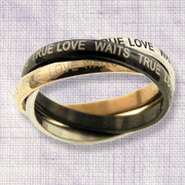 True Love Waits, Three Tone Rings, Size 9  -