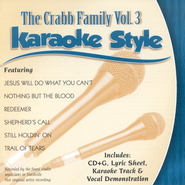 The Crabb Family, Volume 3, Karaoke Style CD   -     By: The Crabb Family