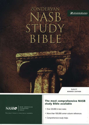 NAS Zondervan Study Bible, Bonded leather, Navy blue   -     Edited By: Kenneth L. Barker