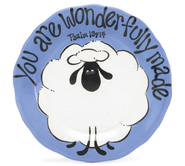 You are Wonderfully Made Plate, Blue  -              By: Carla Grogan