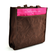 Be Still and Know Tote, Brown and Pink  -