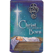 Christ the Savior is Born Lapel Pin with Pocket Card  -