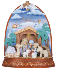 LED Nativity, Precious Moments Figurine  -