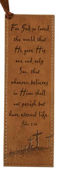 John 3:16 Bookmark, Tan  -
