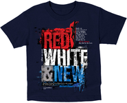 Red, White and New Shirt, Navy, Youth Small   -