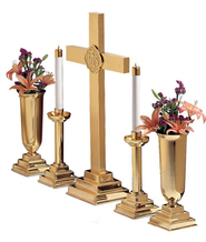 "Brass Altar Set, 24""   -"