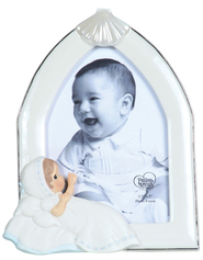 Baptism Photo Frame, Blue, Precious Moments  -              By: Precious Moments