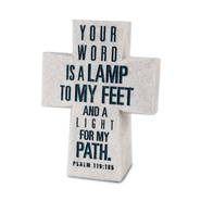 Your Word is a Lamp Desktop Cross  -