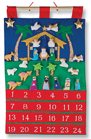 Nativity Fabric Advent Calendar  -