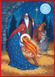 Straw Manger Advent Calendar with envelope  -