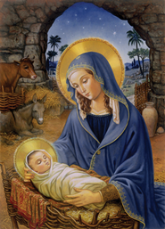 Mary with Child, 15 Boxed Christmas Cards   -