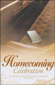 Homecoming Celebration (Galatians 3:26) Bulletins, 100  -