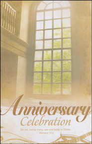 Anniversary Celebration (Romans 12:5) Bulletins, 100  -
