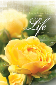Resurrection & the Life (John 11:25) Bulletins, 100  -