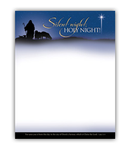Silent Night, Holy Night (Luke 2:11) Letterhead, 100  -