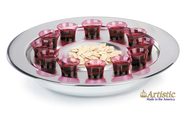 Silvertone Small-Group Communion Tray  -