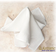 Bread Plate Napkin, Easy-Care Linen/Polyester, Plain    -