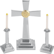 Silvertone Altar Set, Contemporary    -