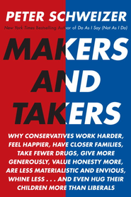 Makers and Takers: How Conservatives Do All the Work While Liberals Whine and Complain - eBook  -     By: Peter Schweizer