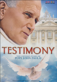 Testimony: The Untold Story of Pope John Paul II DVD  -
