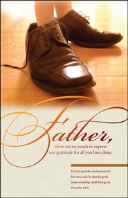 Father's Shoes (Proverbs 19:8) Bulletins, 100  -