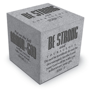 Be Strong & Courageous Scripture Block  -