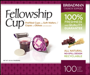 Fellowship Cup Prefilled Communion Cups, Box of 100  -