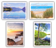 Peaceful Shores, Box of 12 Assorted Birthday Cards  -