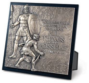 David and Goliath Sculpture Plaque  -