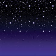 Starry Night Plastic Backdrop  -