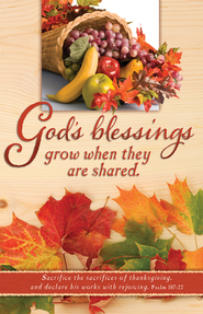 God's Blessings (Psalm 107:22) Bulletins, 100  -