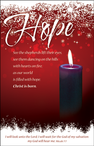 Hope (Micah 7:7) Advent Bulletins, 100  -