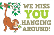 We Miss You Hanging Around (Psalm 145:20, NIV)    Postcards, 25  -