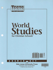 BJU Heritage Studies 7: World Studies, Tests Answer Key     -