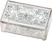 Be Joyful in Hope Butterfly Glass Box  -