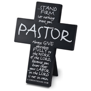 Pastor--Metal Cross   -