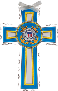 US Coast Guard Cross Suncatcher               -