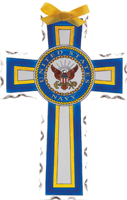US Navy Cross Suncatcher         -
