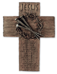 Jesus Crown Wall Cross, Large  -