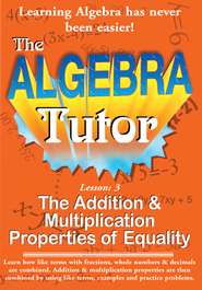 Algebra Math Tutor: Addition & Multiplication DVD  -