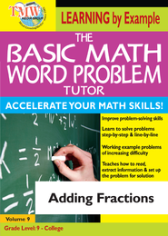 Basic Math Word Problem Tutor: Adding Fractions DVD  -