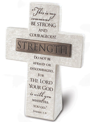 Strength Cross Plaque  -