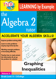 Algebra 2 Tutor: Graphing Inequalities DVD  -