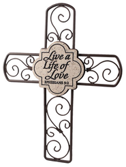 Live a Life of Love Cross  -
